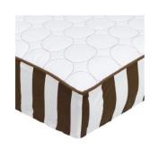 Bacati Quilted Changing pad cover - White/Chocolate