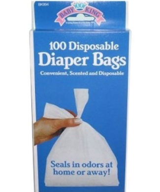 100 Disposable Nappy Bags