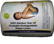 Bamboo Biodegradable/ Flushable Liners for Dispoable or Cloth Nappy- BubuBibi