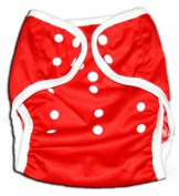 One Size Fit All- Nappy Covers for Prefolds or Regular Inserts PUL - RED