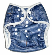 One Size Fit All- Nappy Covers for Prefolds or Regular Inserts PUL - DENIM/ JEANS