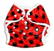 One Size Fit All- Nappy Covers for Prefolds or Regular Inserts PUL - LADYBUG