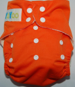 YoYoo One Size Bamboo Pocket Nappy Orange. FuzziBunz