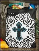 Ornate Cross Crucifix Bookbag Sunday School Grocery Bag Tote Purse Large 40.6cm