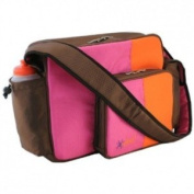 O Yikes Tangerine & Rasberry Messenger Nappy Bag