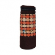 Retro Bottle Holder - Apricot/Chocolate