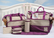 SoHo- Lavender Nappy bag with changing pad 6 pieces set