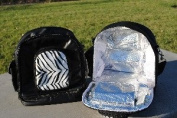 Icy Diamond Totes IDT1215-2-02 Icy Diamond Tote Backpack- Black with Zebra Pouch