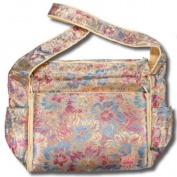 Gold Flowers Silk Boutique Nappy Bag