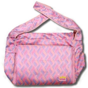 Pink Waves Silk Boutique Nappy Bag