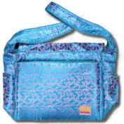 Blue Vines Silk Boutique Nappy Bag