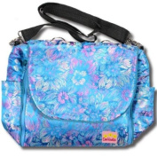 Blue Flowers Silk Boutique Nappy Bag