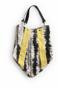 Rosanna Ink Blot Handbag - Yellow/Charcoal