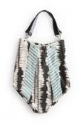 Rosanna Ink Blot Handbag - Charcoal/Blue