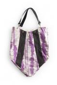 Rosanna Ink Blot Handbag - Purple/Charcoal