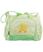 Gerber Large Cute as a Button Nappy Bag - Sage