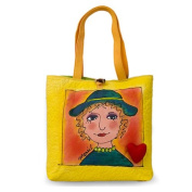 BrightFaces Hat 'n Heart Large Stylish/Colourful Tote Bag