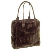 Faux Mink Nappy Bag with Changing Mat
