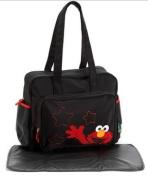 Elmo Nappy Bag LARGE Black / red Sesame Beginnings street baby