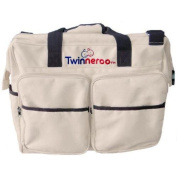 Stuff 4 Multiples Twinneroo Twin Nappy Bag, Khaki