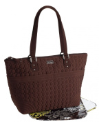 Vera Bradley Microfiber Collection - Baby Bag in Espresso Brown