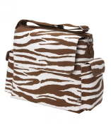 OiOi - Zebra Messenger Nappy Bag