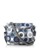 Coach Snaphead Signature Baby Nappy Messenger Bag Purse Tote 18377 Blue Grey Multi