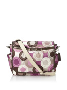 Coach Snaphead Signature Baby Nappy Messenger Bag Purse Tote 18377 Pink Multi