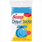 Sassy Disposable Scented Nappy Sacks-50 Cnt Pack
