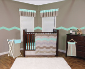 Trend Lab Cocoa Mint Nappy Stacker, Taupe