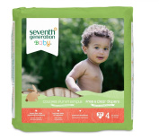 Seventh Generation Free and Clear, Unbleached Baby Nappies, Stage 4, 54 Count, Packaging May Vary