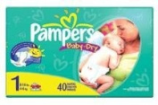 Pampers Nappies Size 1 - 40 ct.