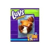 Luvs Mega Pack -86 Nappies - Size 1