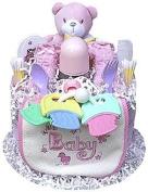1 Tier Girl's Nappy Cake