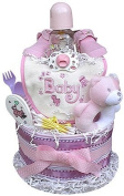 2 Tiered Girl's Nappy Cake