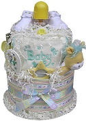 2 Tiered Neutral Nappy Cake