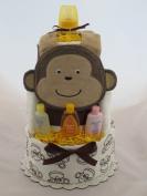 Baby Boy Monkey Nappy Cake
