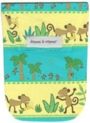 Diapees and Wipees Accessory Bag - Funky Monkey