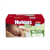 Huggies Natural Care Fragrance Free Baby Wipes Refill, 648 Count