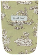 Diapees & Wipees Sage Toile Baby Nappy and Wipes Bag