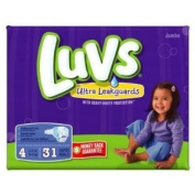 LUVS nappies JUMBO PACK SIZE 4 - 31 CT
