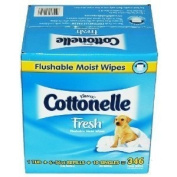 Kleenex Cottonelle Fresh Flushable Moist Wipes - 346 ct Infant Baby Wipes Fresh Smell Alcohol Free