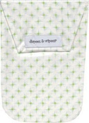 Diapees & Wipees Waterproof Hoppy Dots Green Baby Nappy and Wipes Bag