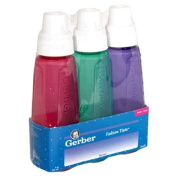 Gerber First Essential Fashion Tints BPA Free Plastic Nurser With Latex Nipple, 9 Ouce, 3 Pack