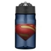 Thermos Blue Superman Tritan Straw Bottle