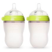 Comotomo Natural Feel Baby Bottle, Double Pack Green, 250ml