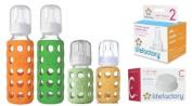 Lifefactory Glass Baby Bottles 4 Pack Starter Kit
