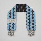 Blue Argyle Cotton Nursing Blanket Strap