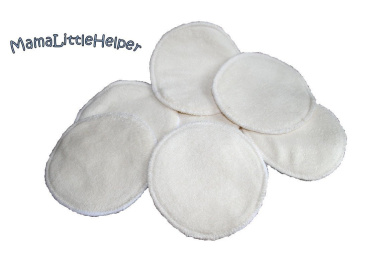 MamaLittleHelper Organic 100% Bamboo Nursing or Breast Pads