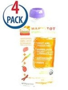 Happy Baby HappyTot Organic Superfoods Sweet Potato Apple Carrot and Cinnamon -- 120ml Each / Pack of 4